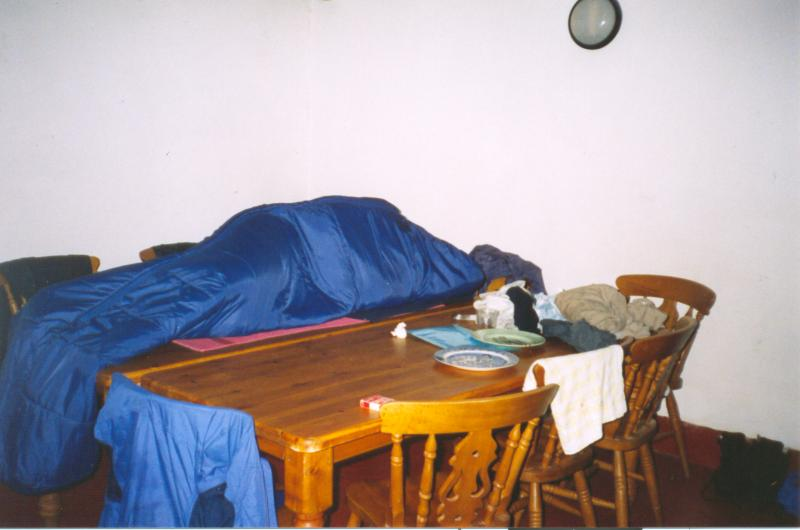 Grandad asleep on the table