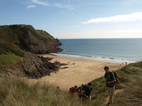 Highlight for Album: Three Cliffs Bay and Pub Lunch